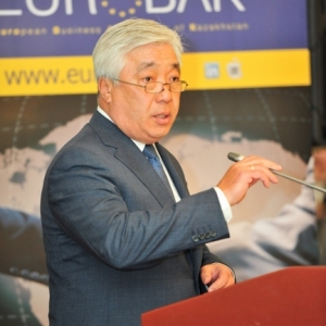 EUROBAK Business Lunch With Mr Erlan Idrissov And Mr Asset Issekeshev 28