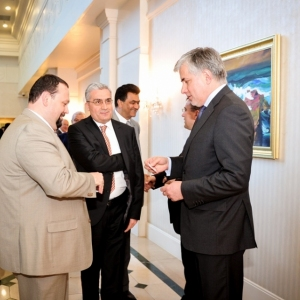 EUROBAK Business Lunch With Mr Erlan Idrissov And Mr Asset Issekeshev 18