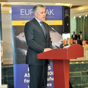 EUROBAK Business Lunch With Mr Erlan Idrissov And Mr Asset Issekeshev 27