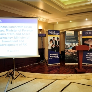 EUROBAK Business Lunch With Mr Erlan Idrissov And Mr Asset Issekeshev 4